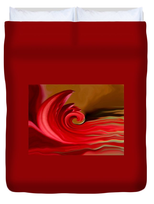 Abstract Art Duvet Cover featuring the photograph Red Sea by Linda Sannuti