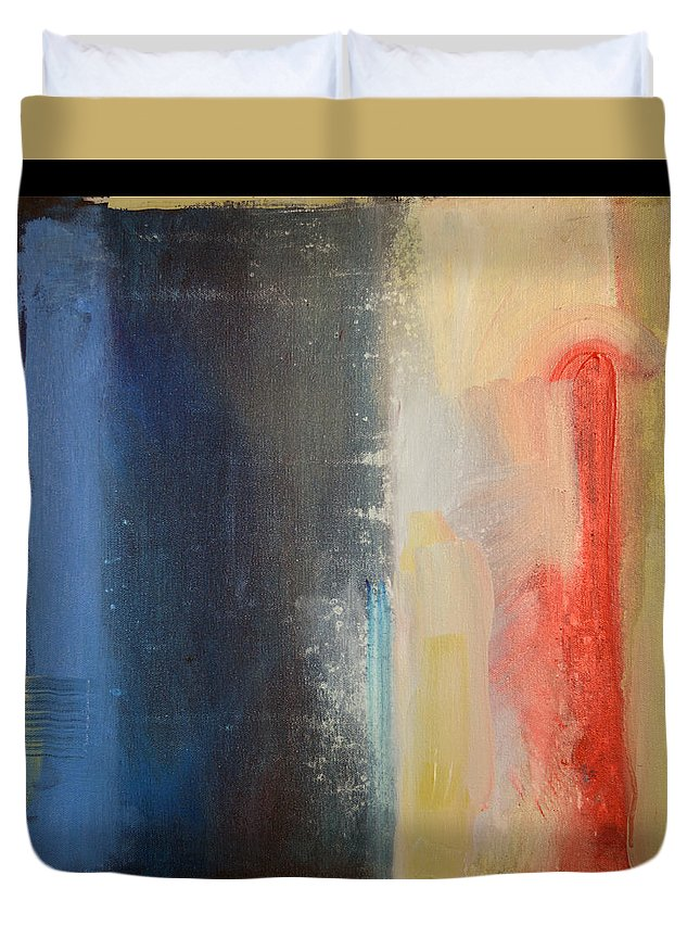 Abstract Duvet Cover featuring the painting Requiem by Tim Nyberg