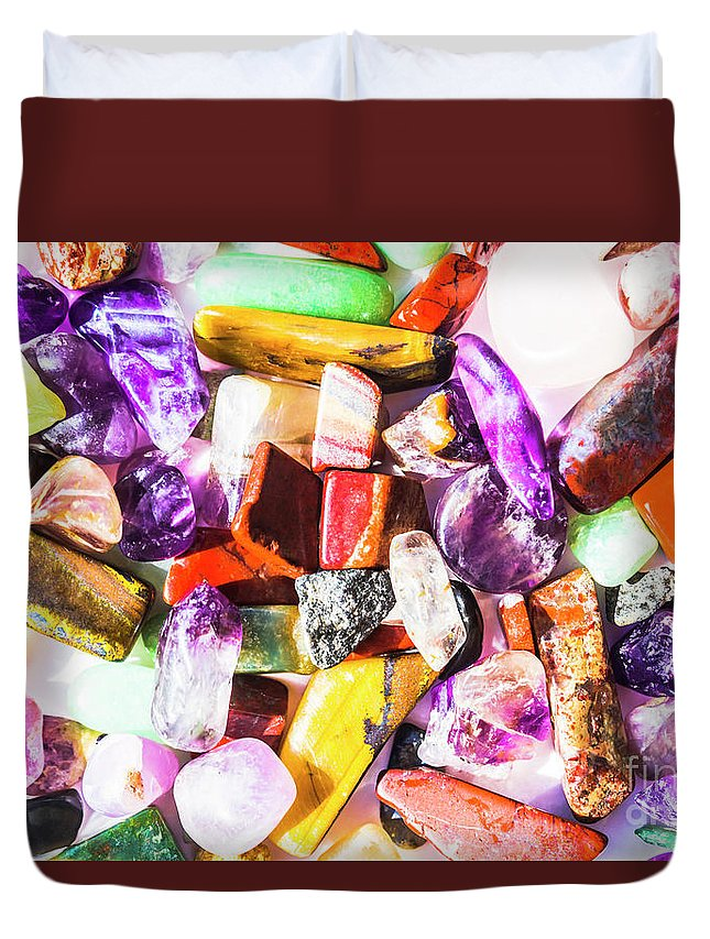Gemstones Duvet Cover featuring the photograph Rockery by Jorgo Photography - Wall Art Gallery