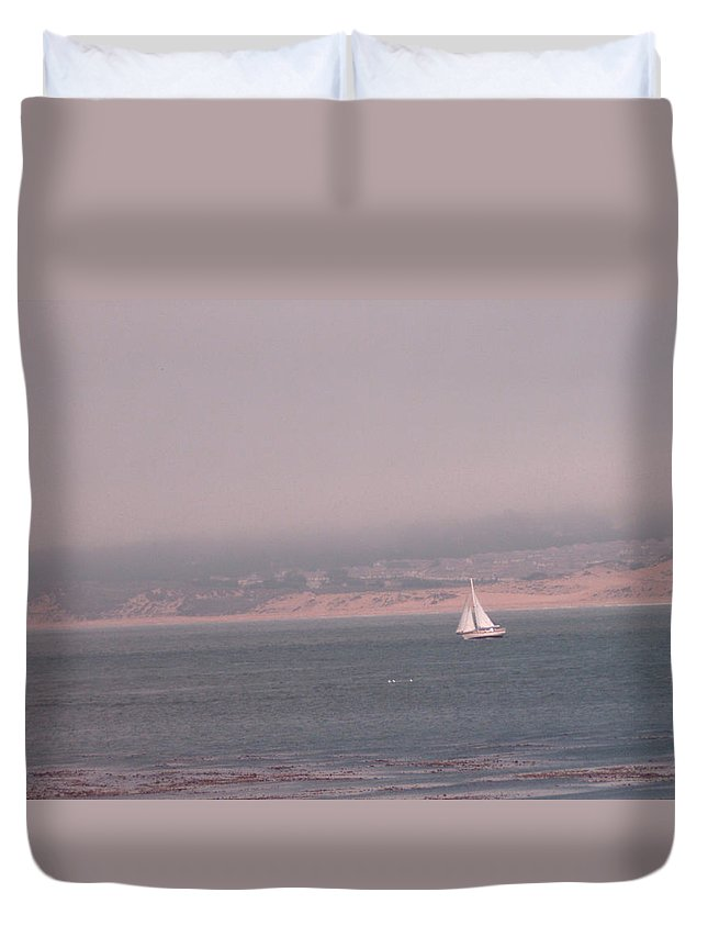 Sailing Solo Duvet Cover featuring the photograph Sailing Solo by Pharris Art