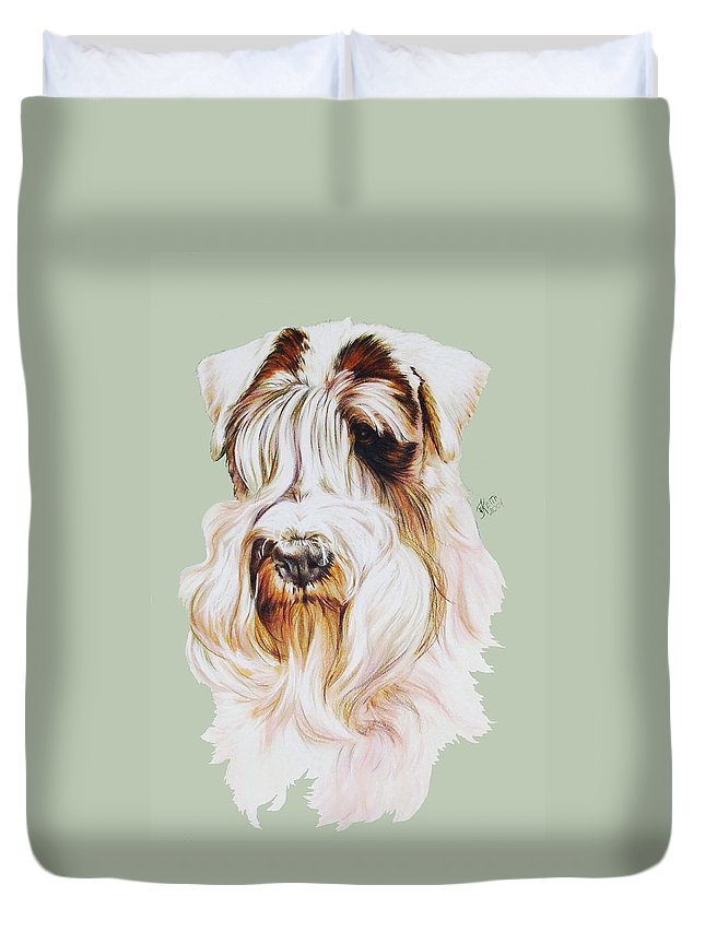 Purebred Dog Duvet Cover featuring the painting Sealyham Terrier in Watercolor by Barbara Keith