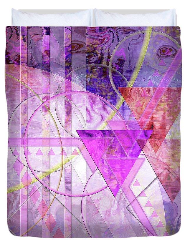 Shibumi Duvet Cover featuring the digital art Shibumi Spirit by John Robert Beck