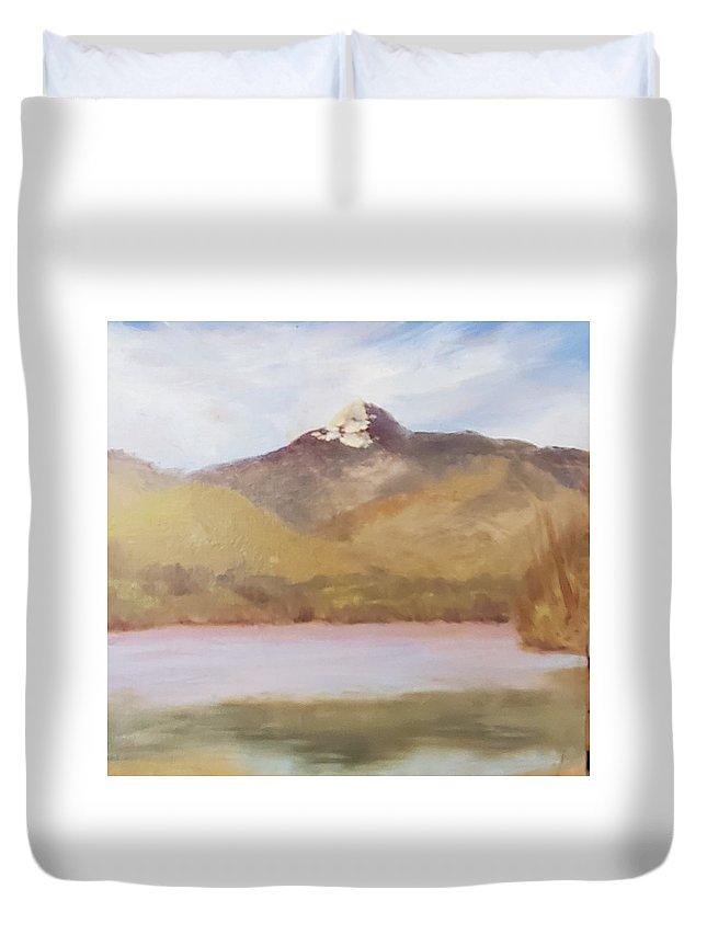 Chocorua Duvet Cover featuring the painting Simply Chocorua by Sharon E Allen