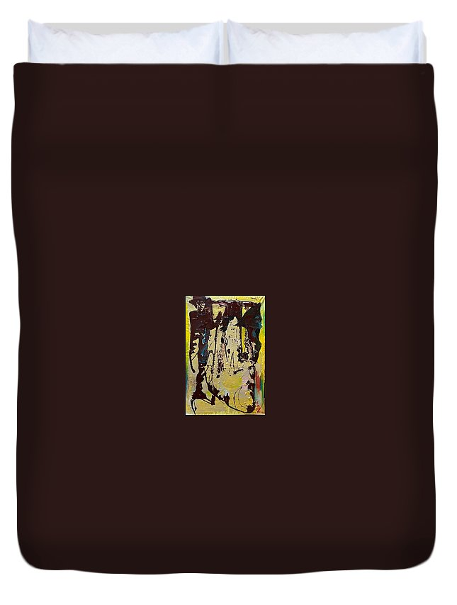 Women Duvet Cover featuring the painting Sisters by Peggy Blood