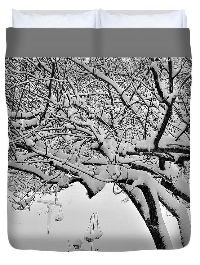 Snow Duvet Cover featuring the photograph Snow Cover by Rob Hans