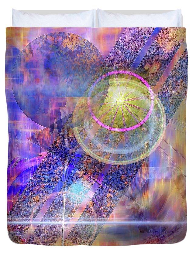 Solar Progression Duvet Cover featuring the digital art Solar Progression by John Robert Beck