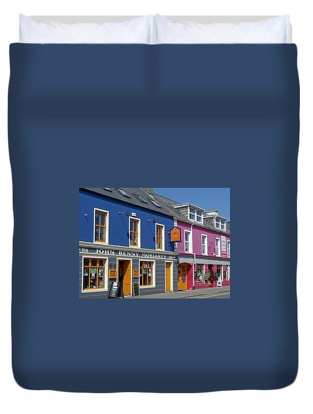 Irish Duvet Cover featuring the photograph Strand Street in Dingle Ireland by Teresa Mucha