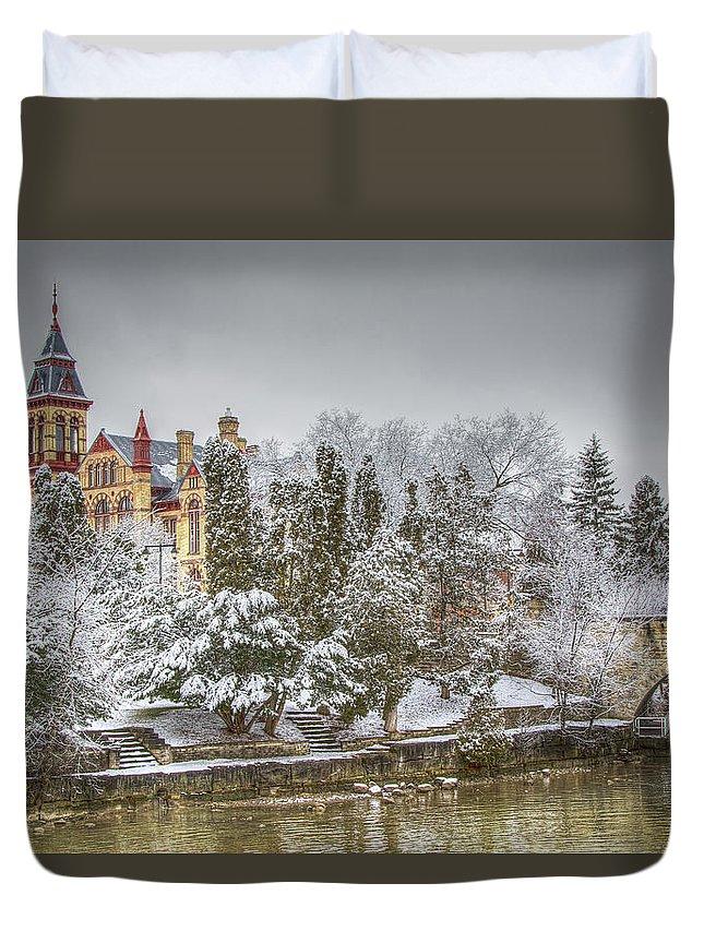 Stratford Duvet Cover featuring the photograph Stratford in Winter by Eden Watt
