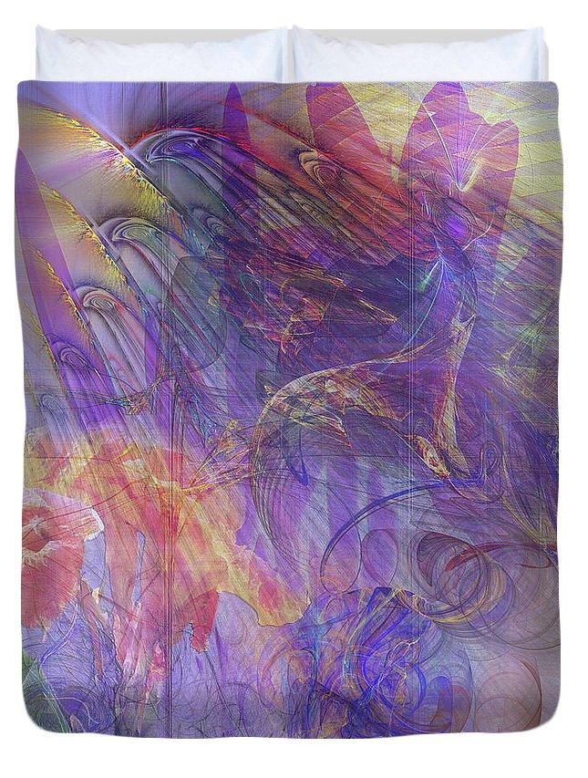 Summer Awakes Duvet Cover featuring the digital art Summer Awakes by John Robert Beck