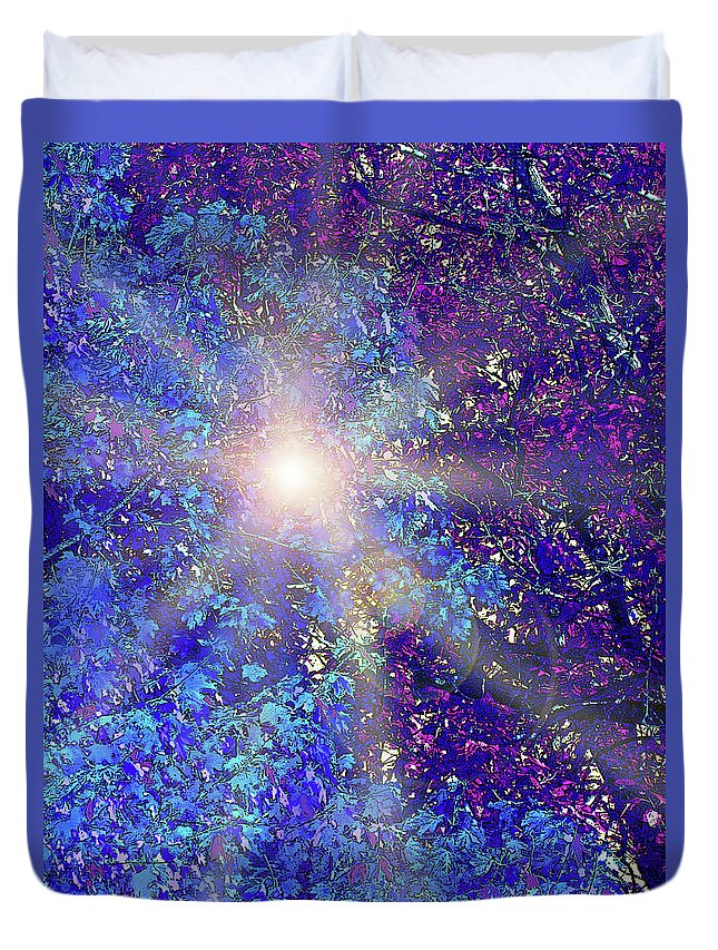 Blue Duvet Cover featuring the photograph Sun and Shade by Ian MacDonald