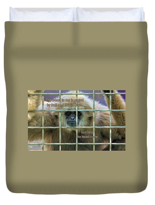 Animals Duvet Cover featuring the digital art The Beast In Me by Lonestar North