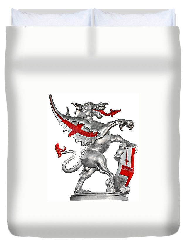 Dragon Duvet Cover featuring the photograph The Dragon Symbol of the City of London by Alexandra Till