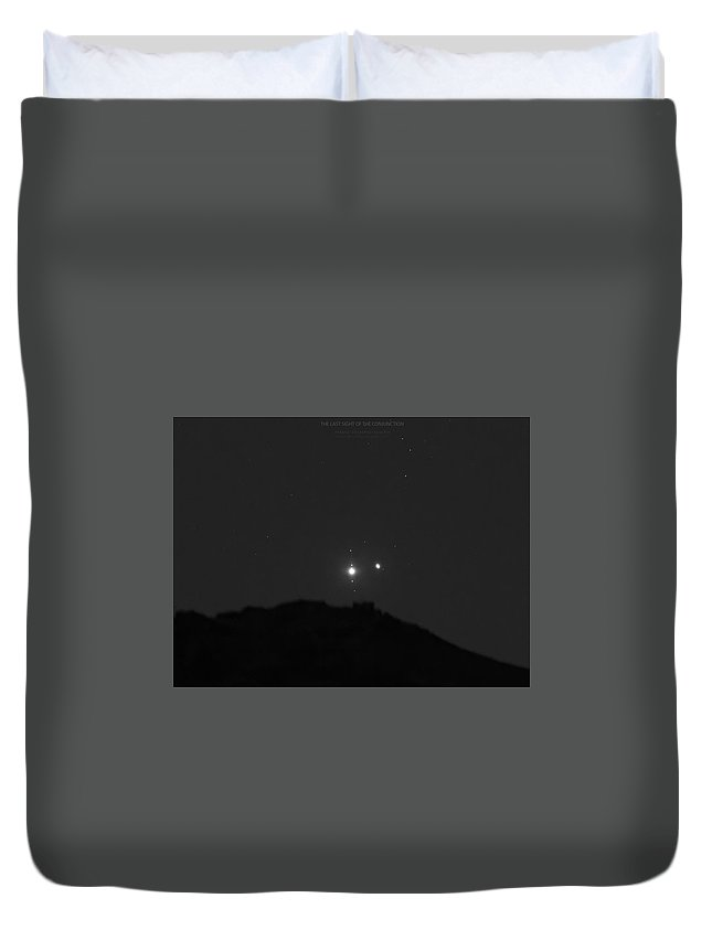 Duvet Cover featuring the photograph The Last sight of the Conjunction by Prabhu Astrophotography