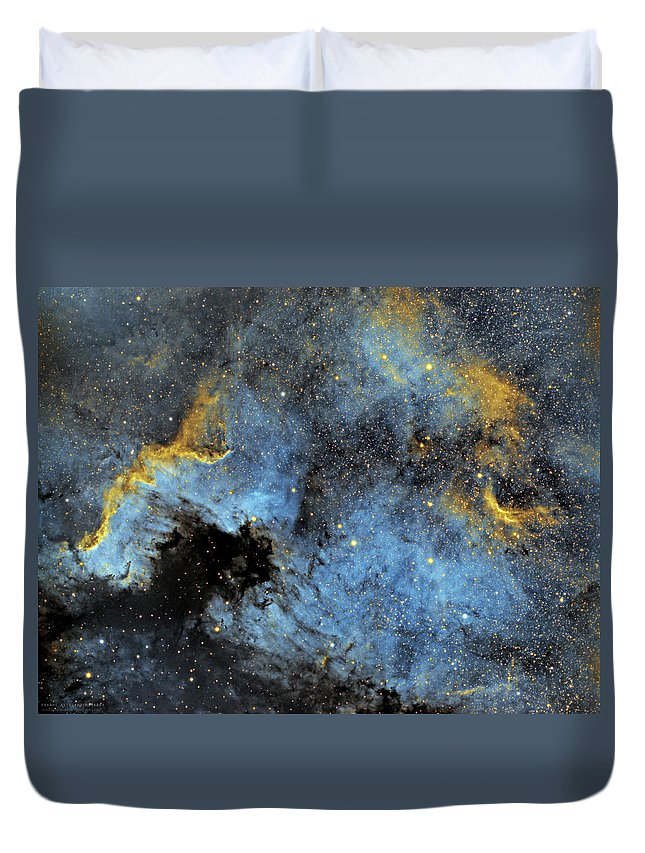 Nebula Duvet Cover featuring the photograph The North America Nebula by Prabhu Astrophotography