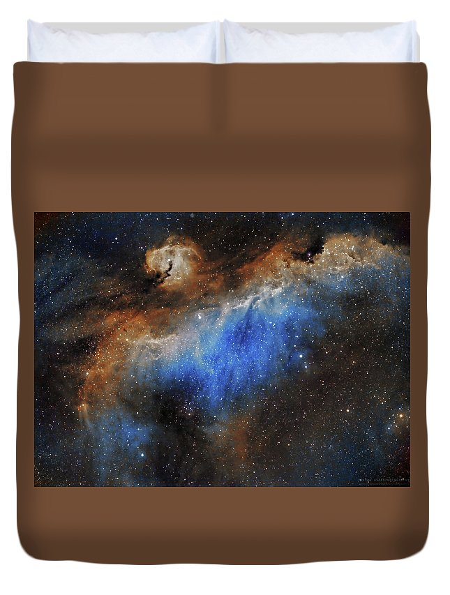 Astronomy Duvet Cover featuring the photograph The Seagull Nebula by Prabhu Astrophotography