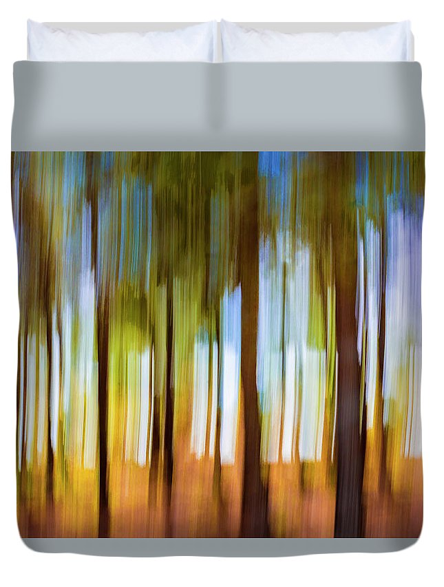 Colourful Duvet Cover featuring the photograph The Unreal Forest by Vicente Sargues