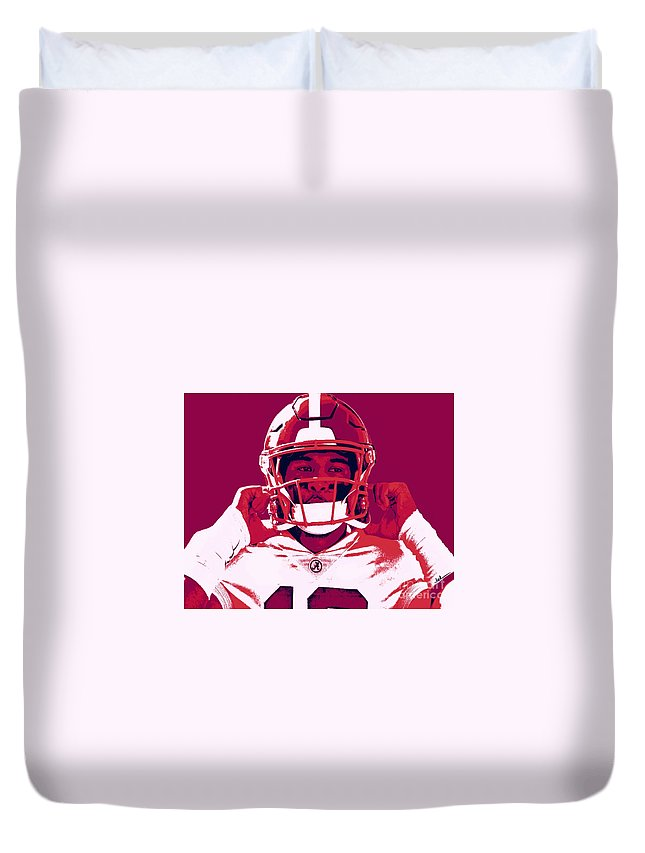Tua Duvet Cover featuring the painting Tua by Jack Bunds