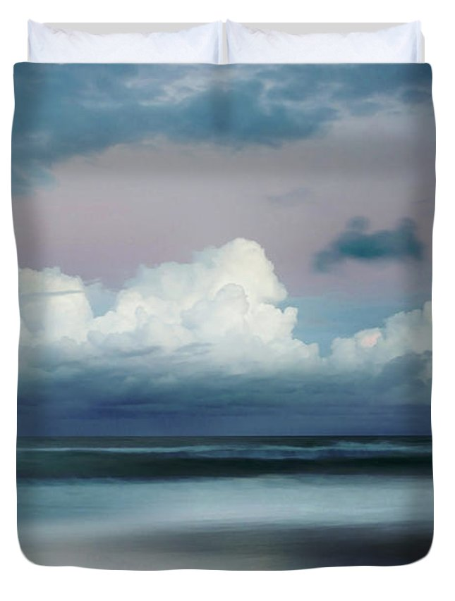 Abstract Beach Duvet Cover featuring the photograph Turbulent Tide by Az Jackson