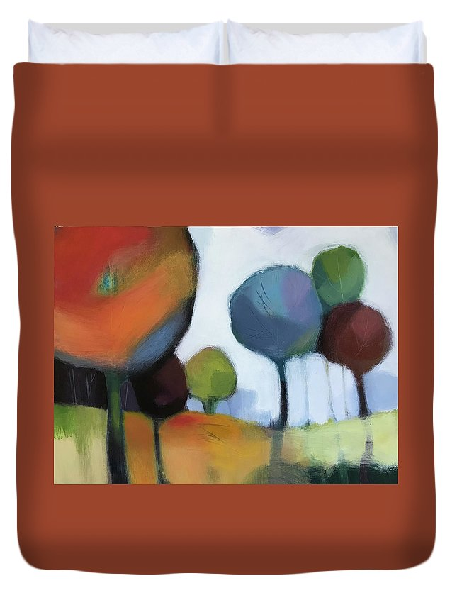 Landscape Duvet Cover featuring the painting Untitled III by Farhan Abouassali