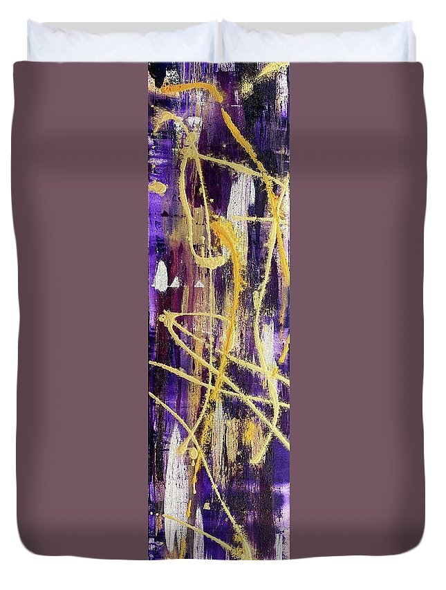 Abstract Duvet Cover featuring the painting Urban Royality by Lauren Luna