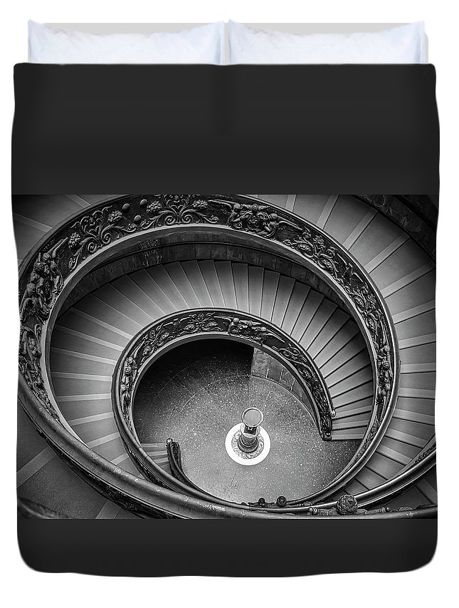 3scape Duvet Cover featuring the photograph Vatican Stairs by Adam Romanowicz