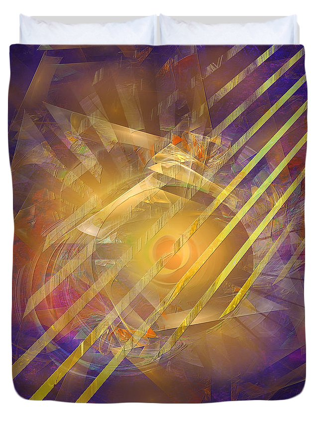 Venetian Gold Duvet Cover featuring the digital art Venetian Gold by John Robert Beck