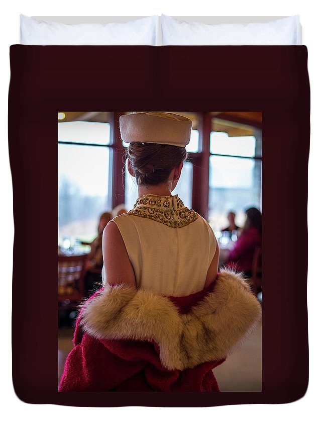 Vintage Duvet Cover featuring the photograph Vintage Fashion 2 by Eden Watt