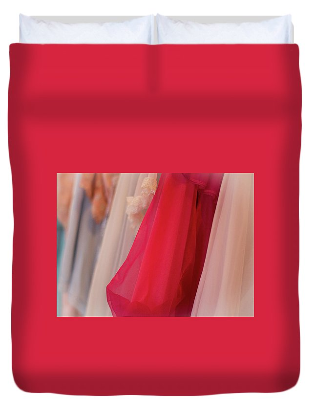 Soft Duvet Cover featuring the photograph Vintage Lingerie by Eden Watt