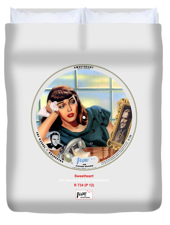 Vogue Picture Record Duvet Cover featuring the digital art Vogue Record Art - R 734 - P 12 by John Robert Beck