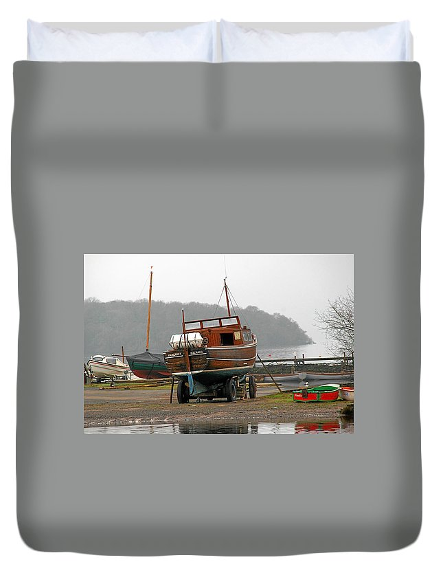 Lake Duvet Cover featuring the photograph Waiting for summer by Christine Till