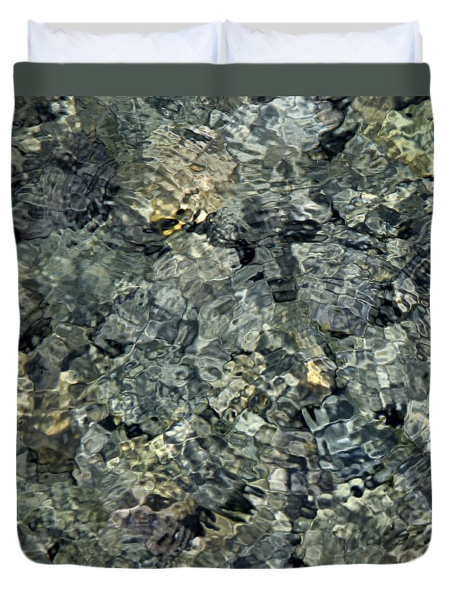 Water Duvet Cover featuring the photograph Water Rocks 1 by Andre Aleksis