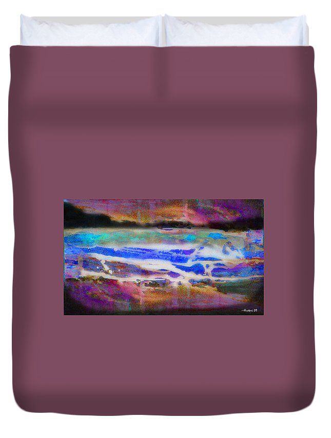 Rick Huotari Duvet Cover featuring the painting When the day comes by Rick Huotari