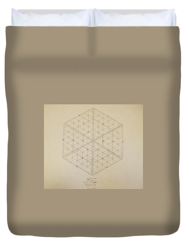 E=mc2 Duvet Cover featuring the drawing Why E equals MC2 by Jason Padgett