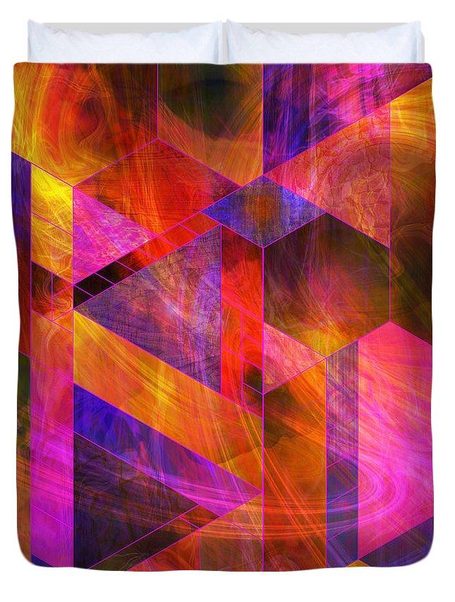 Wild Fire Duvet Cover featuring the digital art Wild Fire by John Robert Beck