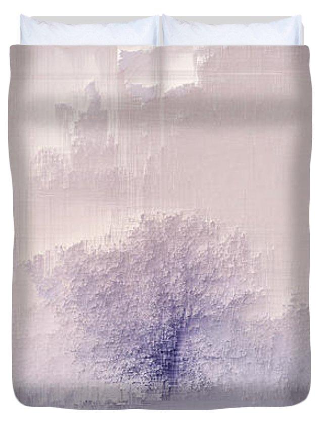 Duvet Cover featuring the digital art Winter landscape by Jenny Filipetti