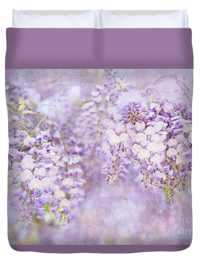Garden Duvet Cover featuring the photograph Wishing Wisteria by Marilyn Cornwell