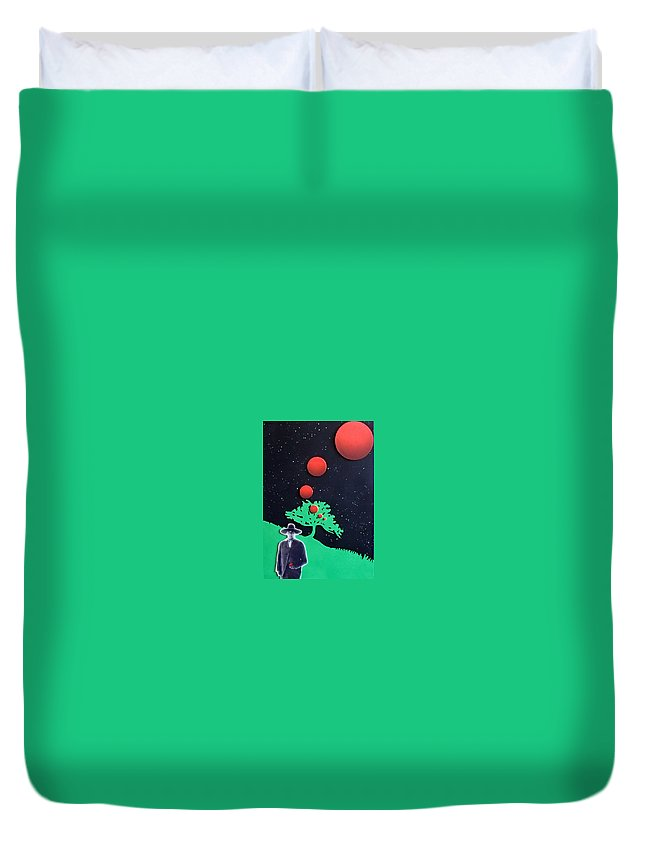Wovoka Duvet Cover featuring the painting Wovoka by Philip Fleischer