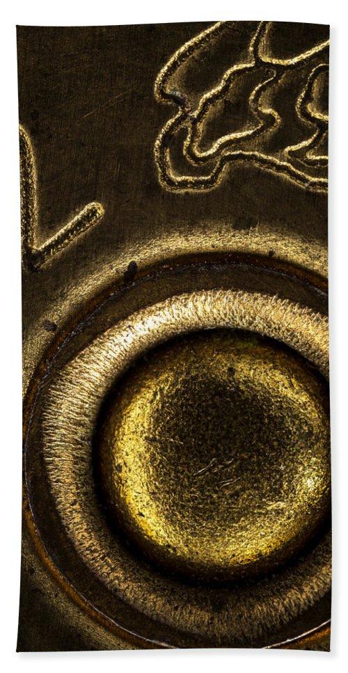 Field Load Bath Sheet featuring the photograph 12 Gauge Shotgun Shell by Bob Orsillo