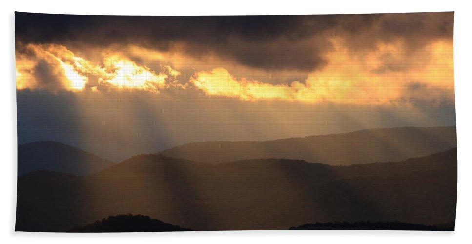 Blue Ridge Mountains Bath Sheet featuring the photograph Blue Ridge Mountains by Mountains to the Sea Photo