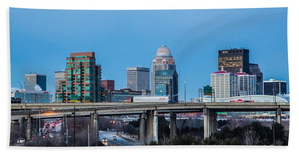 Louisville Bath Sheet featuring the photograph Busy City by James Guest
