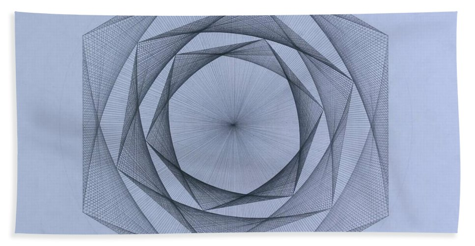 Jason Padgett Bath Towel featuring the drawing  Energy Spiral by Jason Padgett