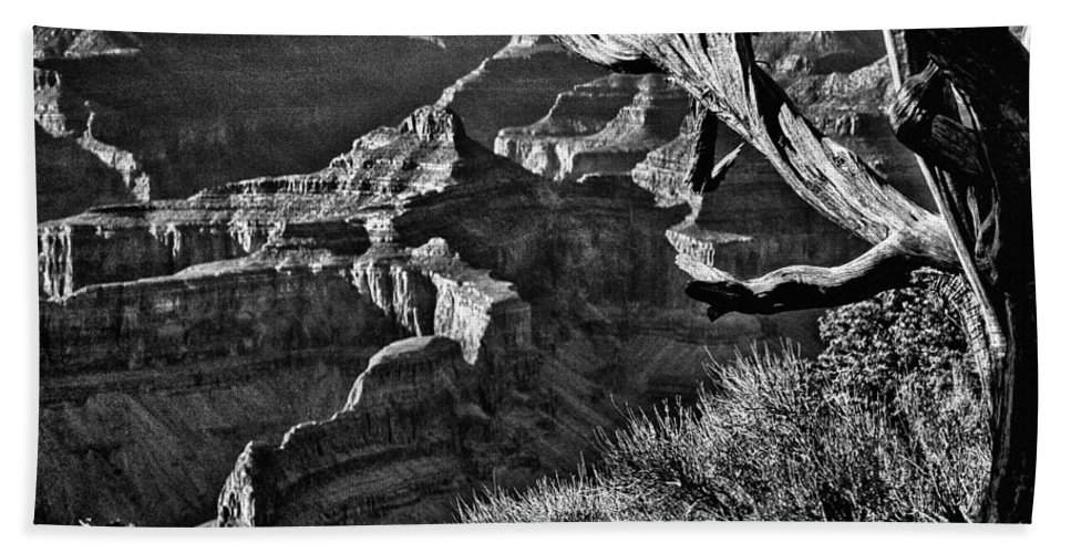 Angel Hand Towel featuring the photograph Grand Canyon Hermit View by Bob and Nadine Johnston