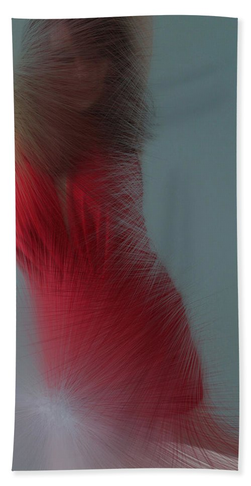 Red Bath Sheet featuring the photograph In Red by Linda Sannuti