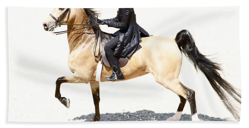 Horse Hand Towel featuring the photograph Lovely Gaited Buckskin by Alice Gipson