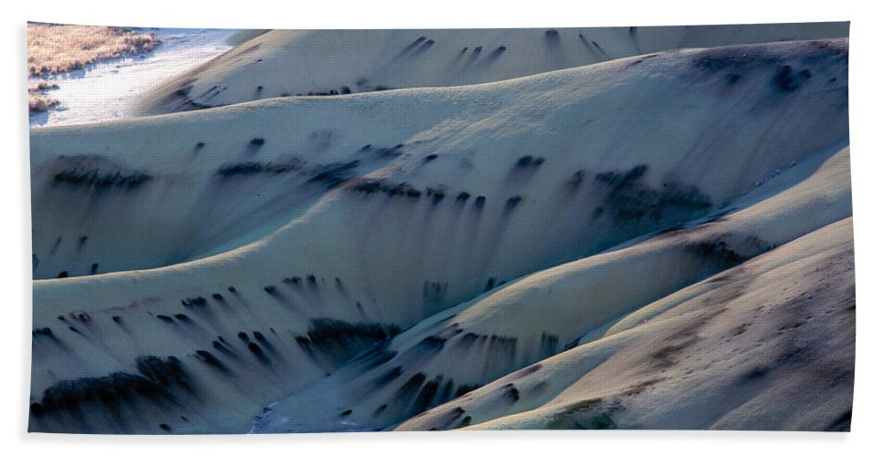 Day Fossil Beds National Monument Hand Towel featuring the photograph Painted Hills 7 by Tracy Knauer