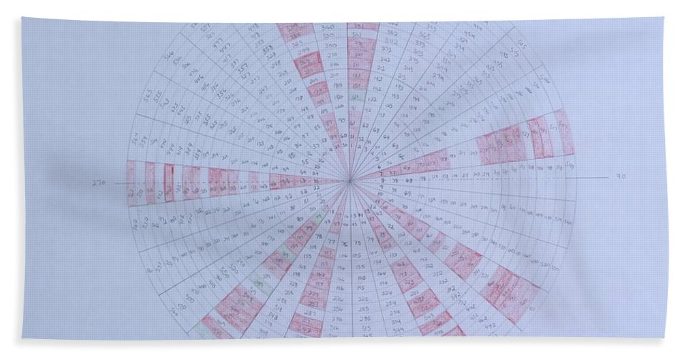 Prime Bath Towel featuring the drawing Prime Number Pattern P Mod 30 by Jason Padgett