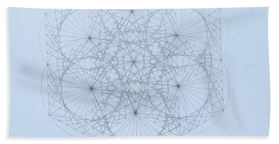 Jason Padgett Bath Towel featuring the drawing Quantum Snowflake by Jason Padgett