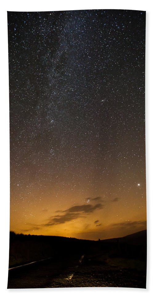 Astrophotography Bath Sheet featuring the photograph Road To The Milky Way by Beverly Cash