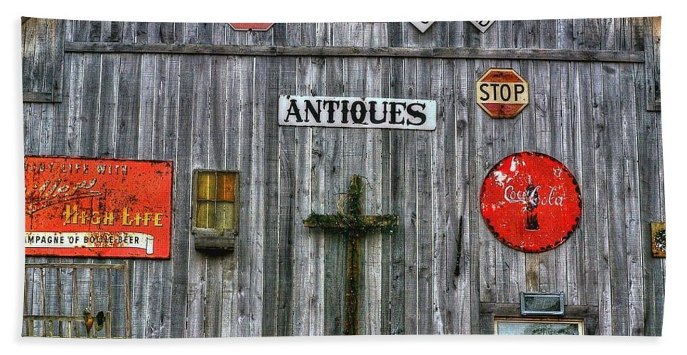 Signs Hand Towel featuring the photograph Signs Of Time by Randy Pollard