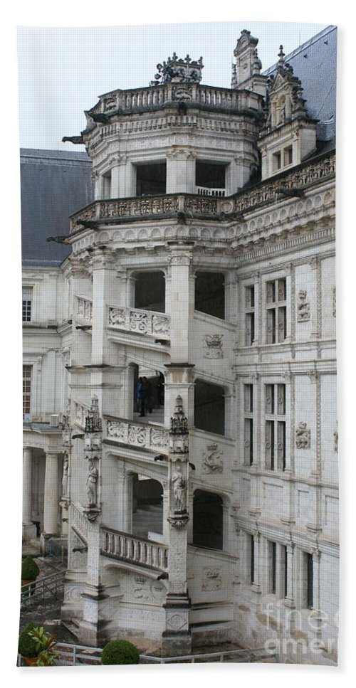 Stairs Hand Towel featuring the photograph Spiral Staircase In The Francois I Wing - Chateau Blois by Christiane Schulze Art And Photography